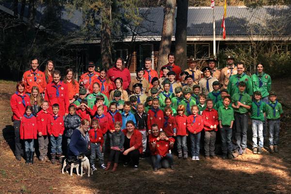 Groepsfoto Teylersgroep Scouting Losser 2013