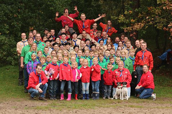 Groepsfoto Teylersgroep Scouting Losser